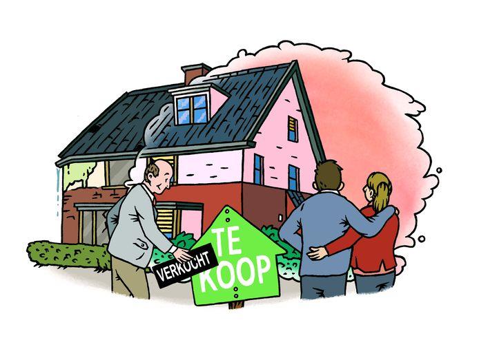 Illustratie huizenprijzen - Bob op 't Land