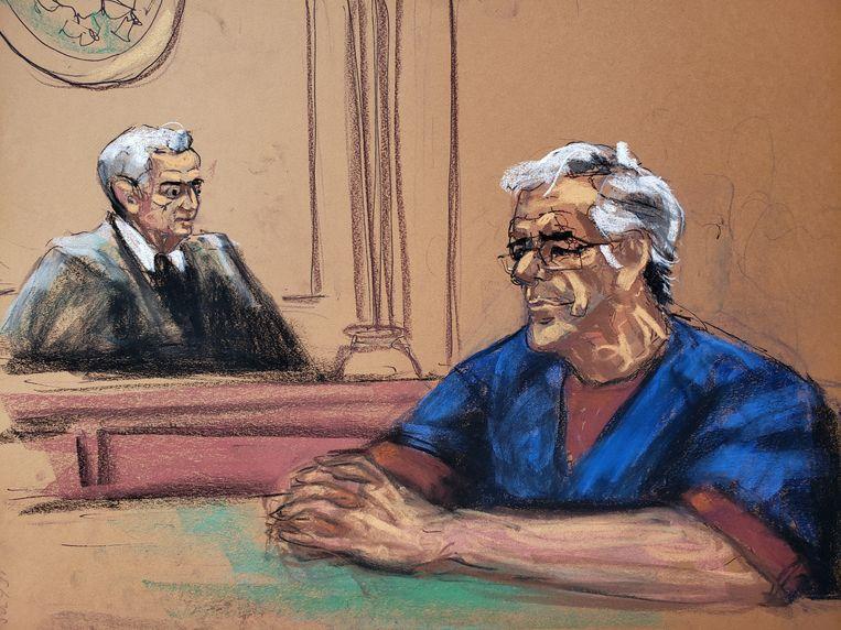 Jeffrey Epstein en rechter Richard Berman.  Beeld REUTERS