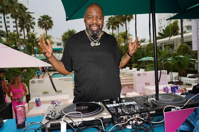 Biz Markie tijdens een optreden in Miami Beach vorig jaar. Beeld Getty Images for BACARDI