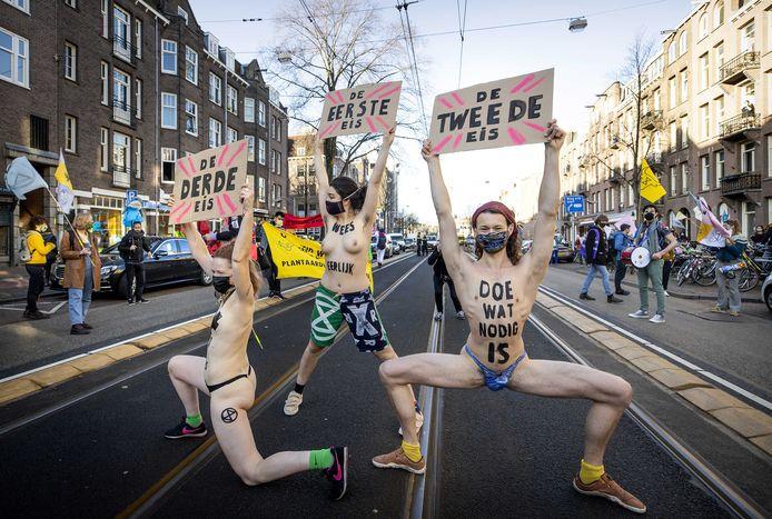 Klimaatprotesten van Extinction Rebellion.