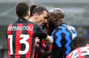 Ibrahimovic met Lukaku.