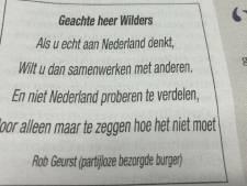 Haagse ondernemer roept Geert Wilders tot de orde