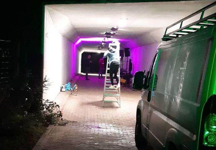 In Ede werd al eerder dit jaar een feest voorkomen in een tunneltje onder de A12.