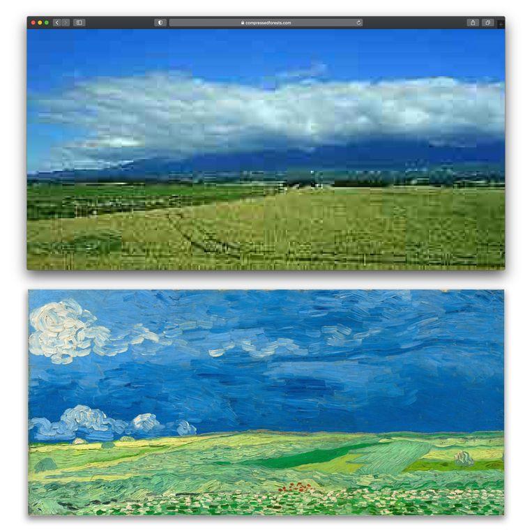 Videokunstwerk van Jan Robert Leegte. Beeld van Gogh museum