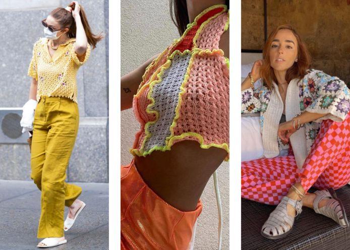 Gigi Hadid en twee influencers tonen op Instagram hoe je crochet kunt dragen.