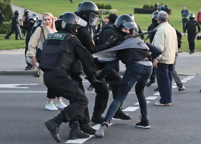 Deze week is een half jaar verstreken sinds de presidentsverkiezingen en het begin van de grootste protesten uit de geschiedenis van Belarus. Beeld Hollandse Hoogte