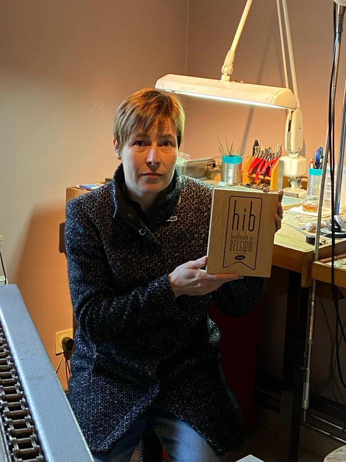 Tamara Henderickx met haar Handmade in Belgium-label.