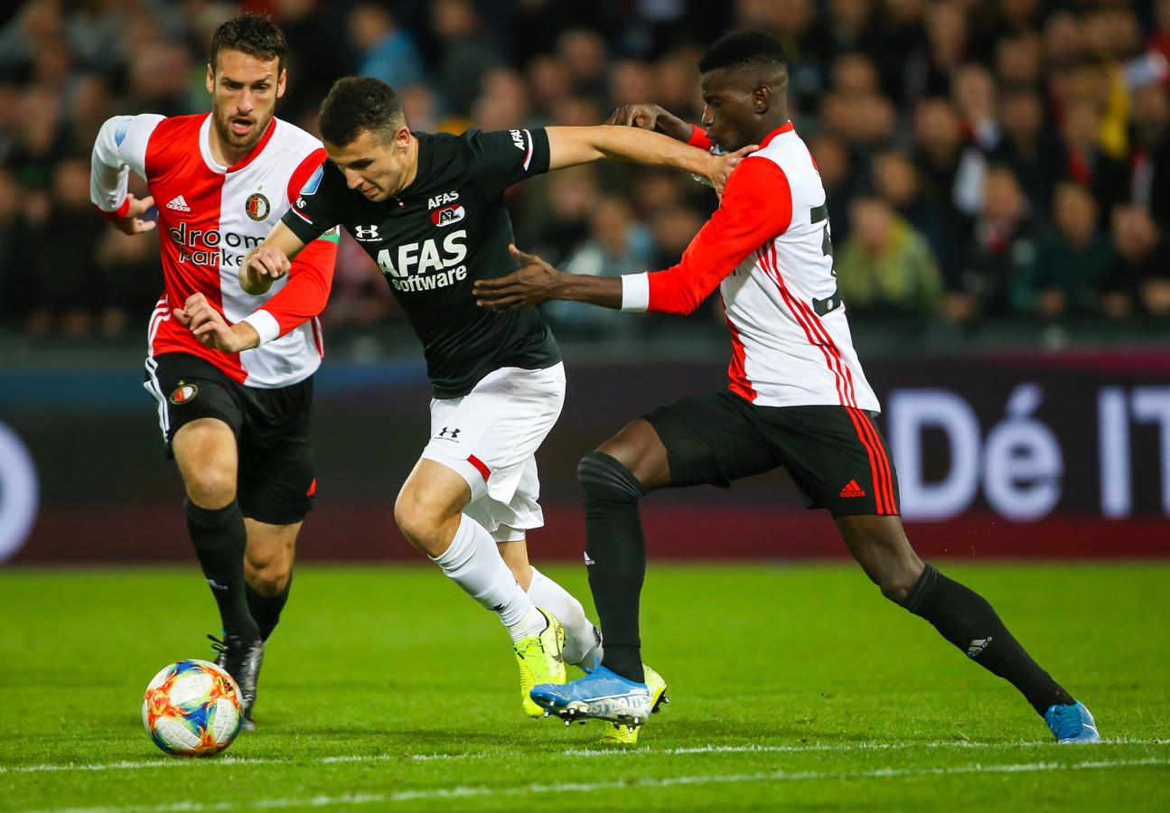 Oussama Idrissi in actie tegen Feyenoord.