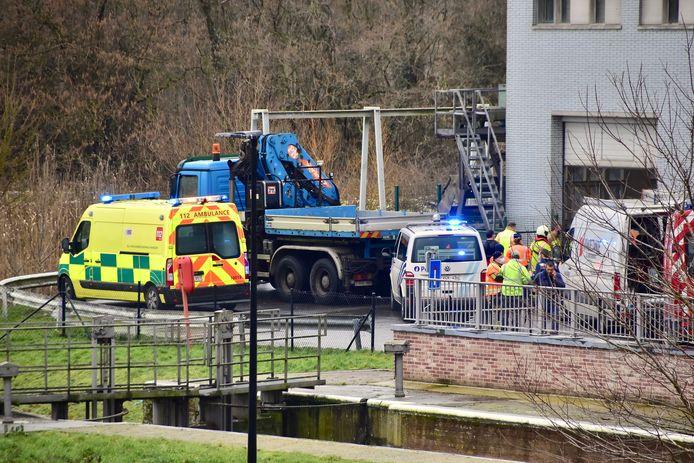 Het drama speelde zich af in het pompgebouw aan het sas van Ooigem.