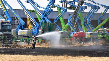 Grote weidebrand op industriezone aangestoken?