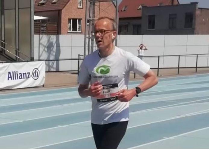 Filip Watteeuw bij zijn halve marathon afgelopen weekend.