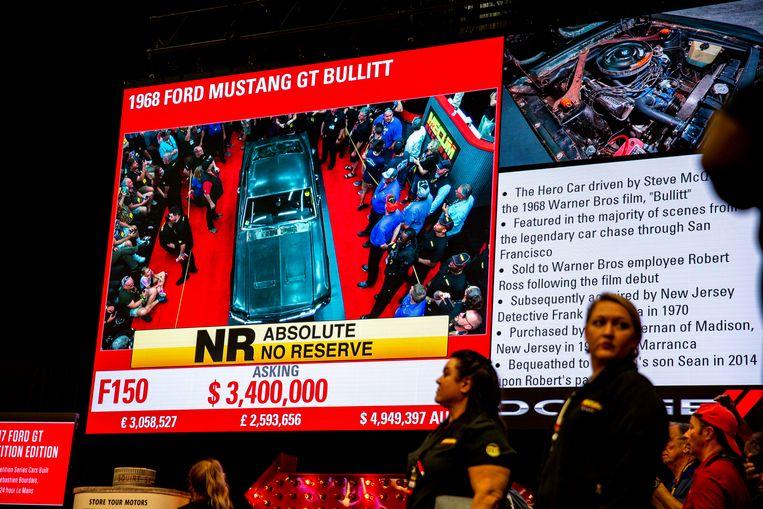 Beeld van tijdens de veiling. Uiteindelijk werd de hamerprijs 3,74 miljoen dollar.