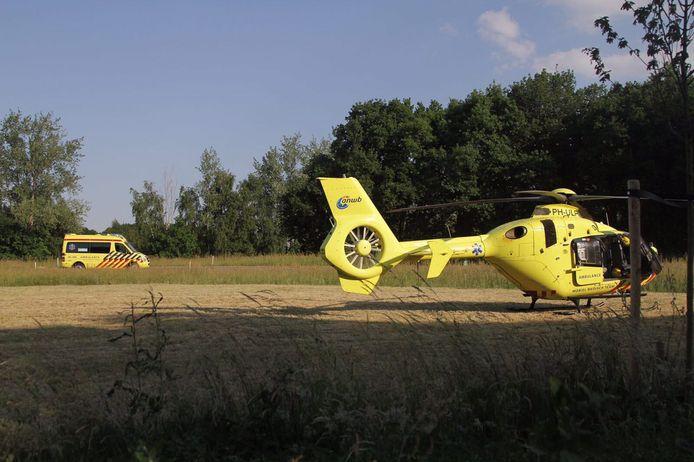 Traumahelikopter ingezet bij ongeval met scooter in Harderwijk.