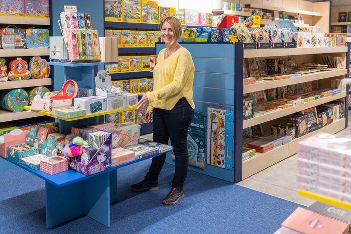 Dorien Wuyts in haar nieuwe winkel.