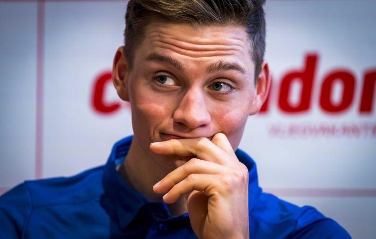 Mathieu van der Poel: hij gaat meer rijden op de weg. Beeld ANP
