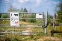 Waarschuwingsborden in de Kaliwaal: de runderen zijn niet agressief, maar wandelaars moeten niet te dicht bij ze komen.
