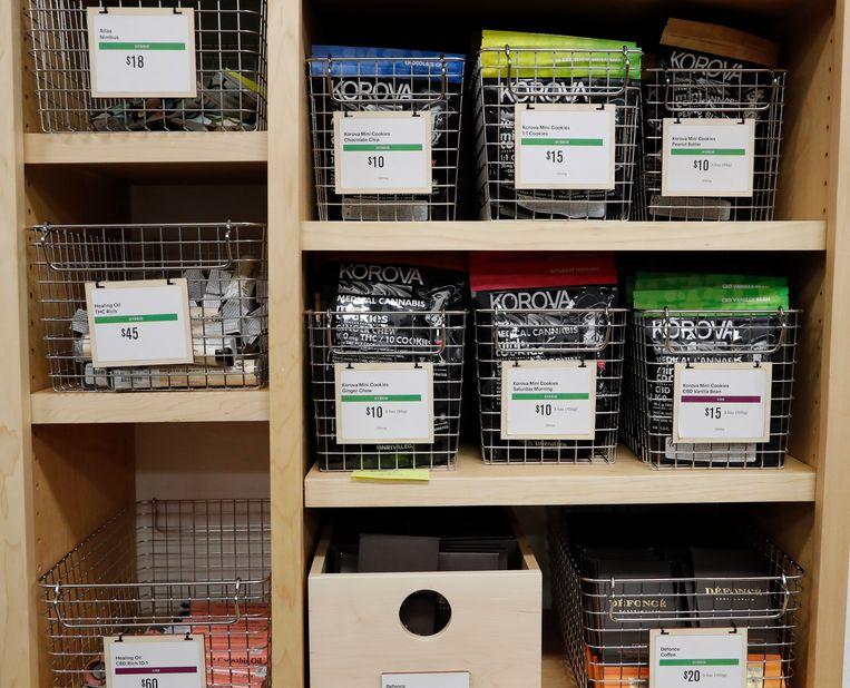 Cannabisproducten in de Harborsite in Oakland. Beeld EPA
