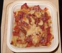 Als je dit gerecht in een heteluchtoven zet, wordt de pancetta heerlijk krokant.