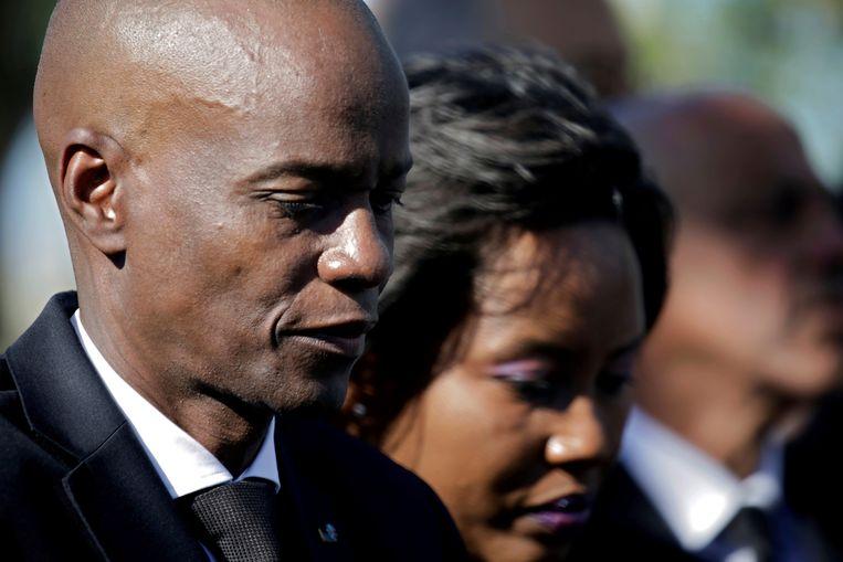 Jovenel Moïse en zijn vrouw Martine in 2020. Beeld REUTERS