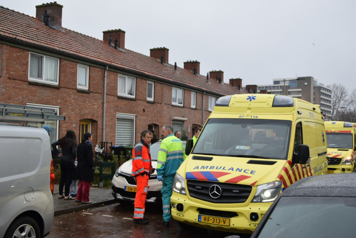 Veel ambulance ter plaatse.