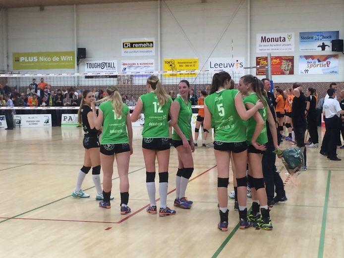 De volleybalsters van Coolen-Alterno slaagden er zaterdag niet in zich te plaatsen voor de finale om het landskampioenschap