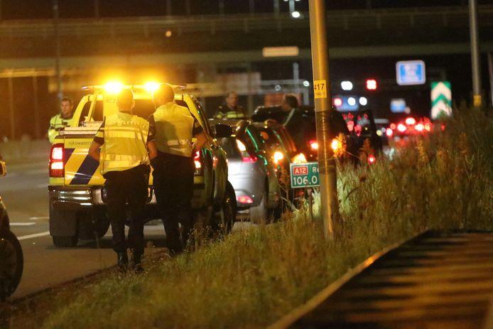 Ongeluk op de A12 bij Ede.