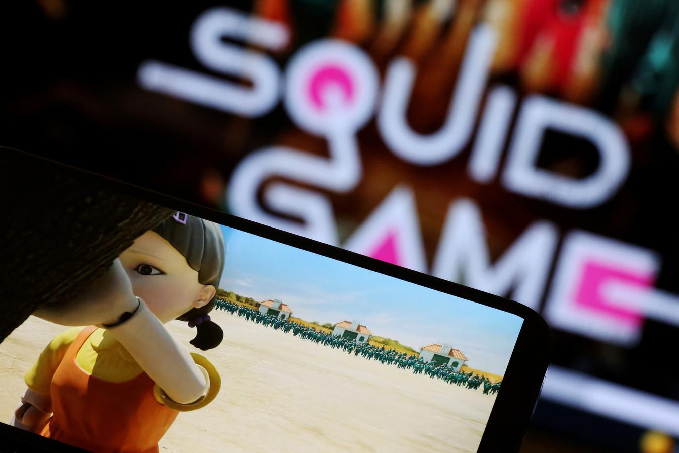 Het spel Red Light, Green Light in Squid Game. Oftewel: 'Annemaria koekoek'.