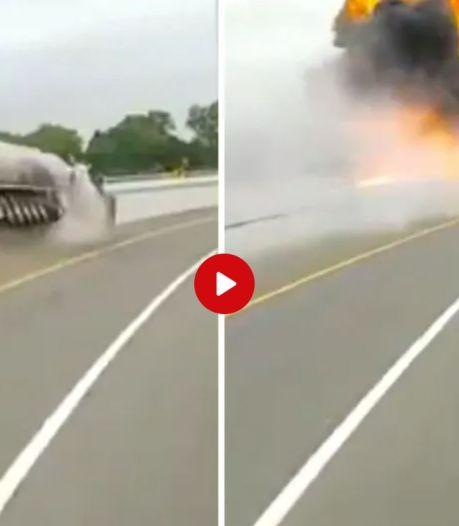 Video van de Dag | Ongelooflijk, de chauffeur stapt er levend uit