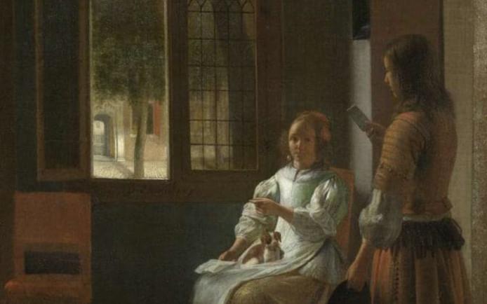 Het schilderij van Pieter de Hooch.