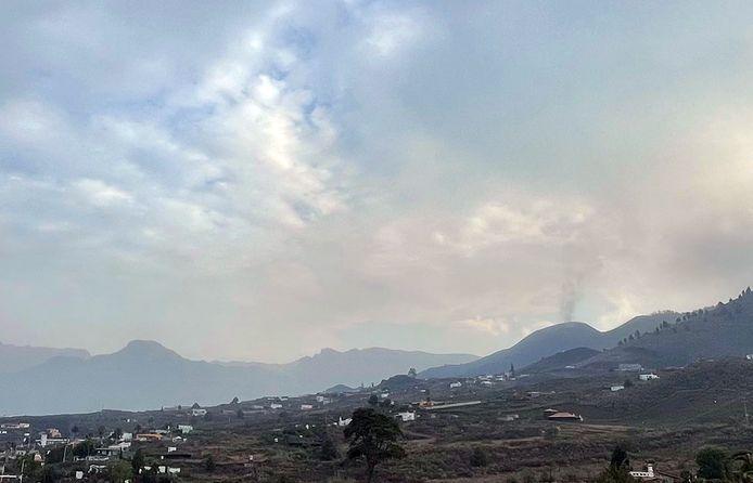 Maandagochtend leek de vulkaan iets inactiever.