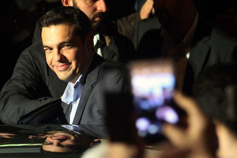 Alexis Tsipras, de leider van radicaal-linkse partij Syriza. Beeld EPA