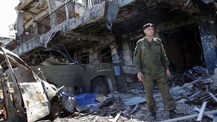 Een pro-Russische separatist in Oekraïne.