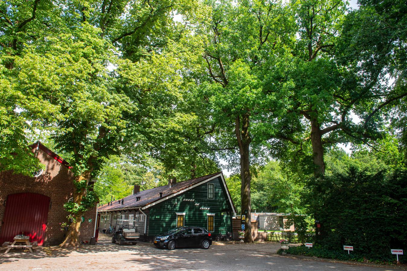 De ingang van bungalowpark 't jachthuis in Soesterberg.