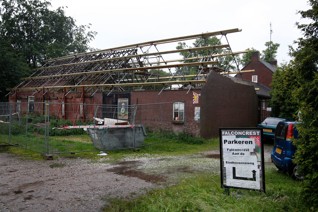 Archieffoto uit 2014: Een deel van valkerij Falconcrest op Bokt in het groene gebied tussen Eindhoven en Son en Breugel.