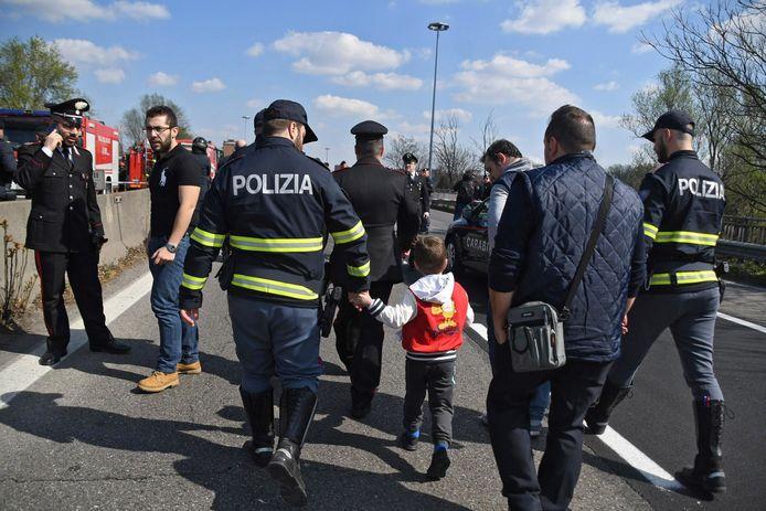 Bij de actie raakten meerdere kinderen lichtgewond
