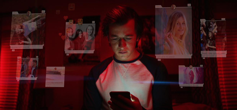 Beeld uit de Netflix-docu 'The Social Dilemma'. Beeld Exposure Labs/Netflix
