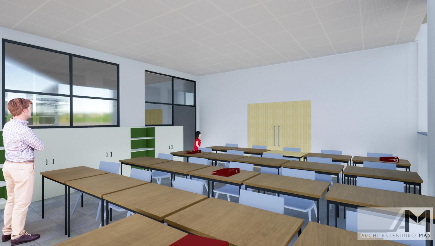 Een toekomstig klaslokaal.