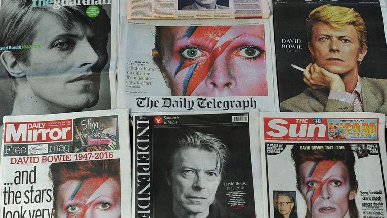 Na de dood van David Bowie verenigden alle sociale mediastemmen zich heel even tot een ordentelijk geheel dat maar weinig tegenspraak vertoonde. Beeld afp