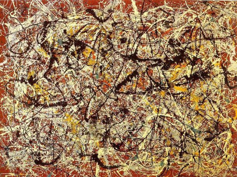 'Mural on Indian Red', van Jackson Pollock. Beeld wikiart.org
