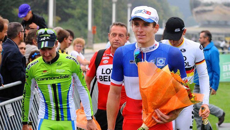 Frans kampioen Arnaud Démare toonde op het Vlaams kampioenschap nog maar eens dat hij stilaan tot het kransje van de topsprinters behoort. Beeld Tim De Waele