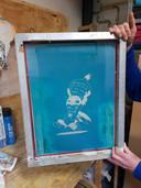 Kunstwerk van Henk. ,,Duizend bommen en granaten.''