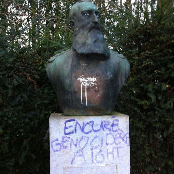 La statue avait déjà été dégradée par le passé (ici en 2012).