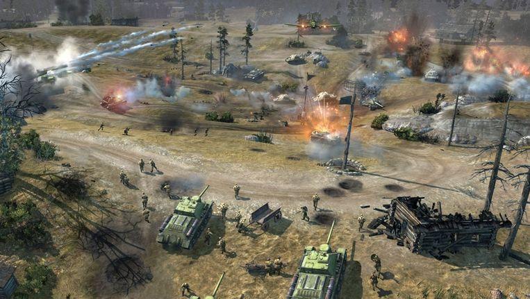 'Company of Heroes 2' draait rond strategie. Beeld kos