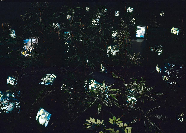 De 'tv-tuin' van Nam June Paik is het bezoeken waard.