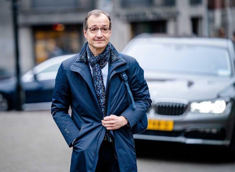 Minister Eric Wiebes van Economische Zaken en Klimaat vrijdag op het Binnenhof.  Beeld ANP