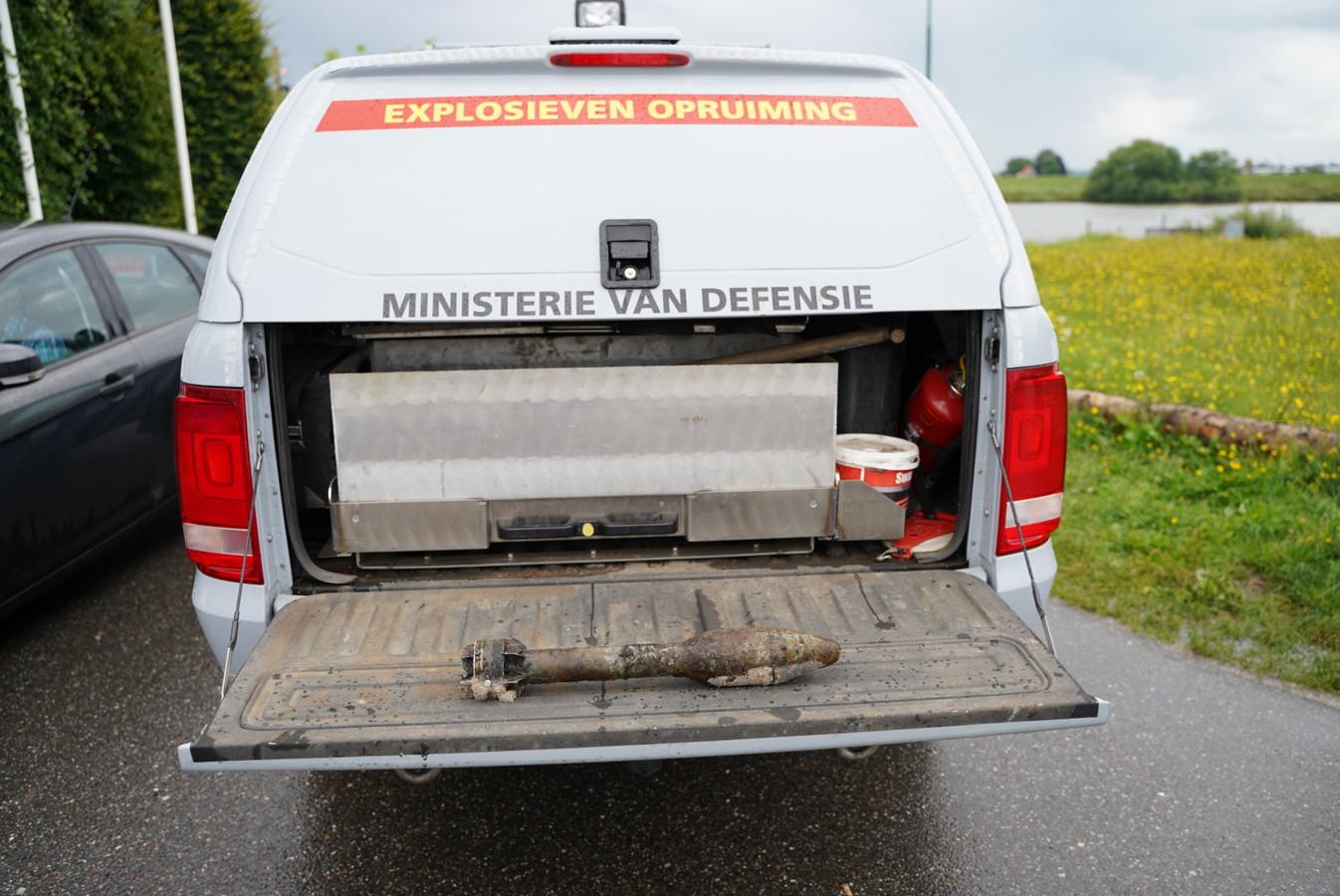 Het gevonden explosief in Rhenen.