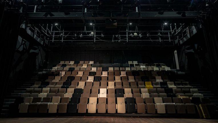 In het theater ligt een smaakvolle zaal, maar of het publiek de entree kan vinden, valt te bezien. Beeld Rink Hof