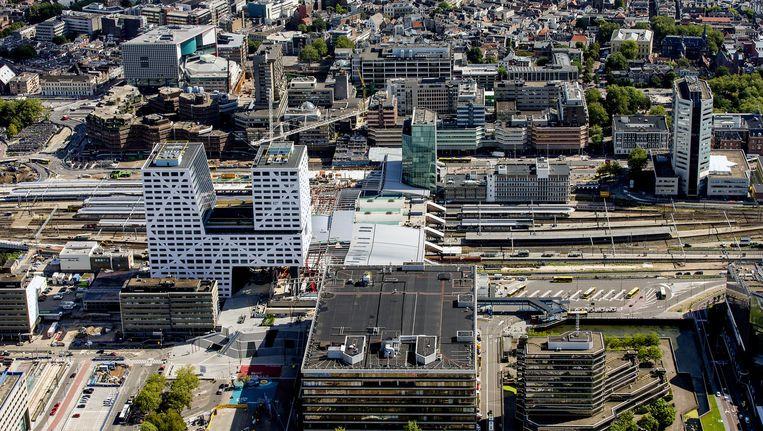 Het centraal station van Utrecht vanuit de lucht. Beeld anp