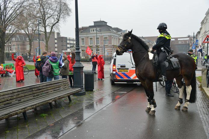 Extinction Rebellion voert actie in Breda.