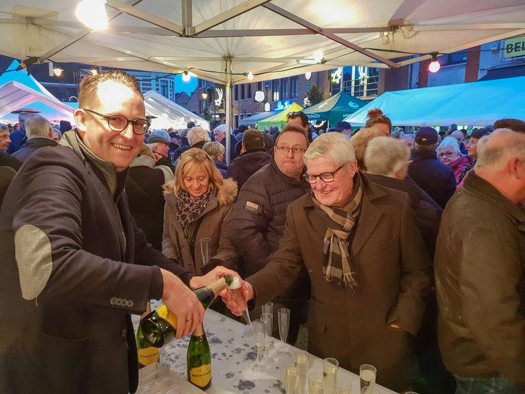 Herenthouts burgemeester Stijn Raeymaekers tijdens de Nieuwjaarsdrink.